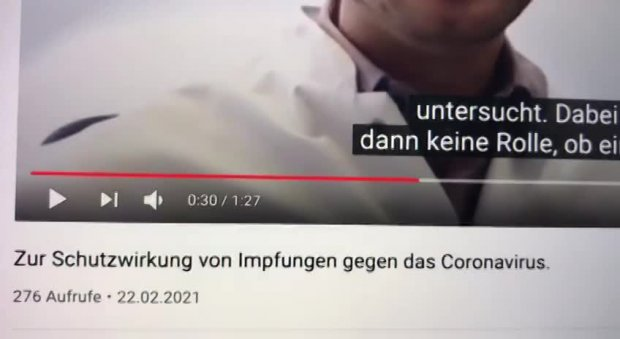 YOUTUBE MANIPULIERT BEWERTUNG VON PRO-IMPF-VIDEOS