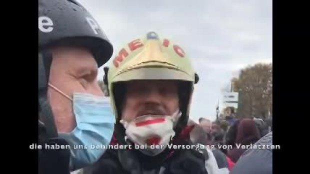 Wichtiges 3.Min. Video zu  den Ereignissen auf der Berliner Demo.